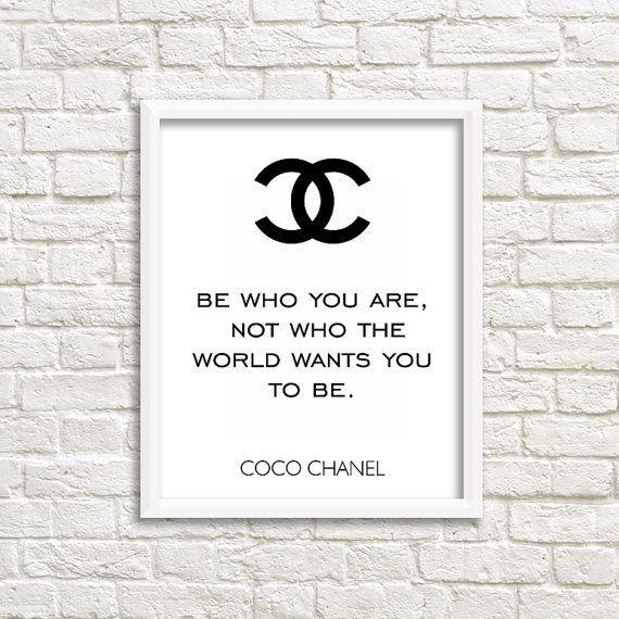 Success Motivation Work Quotes Chanel Wall Art Coco Chanel Quotes