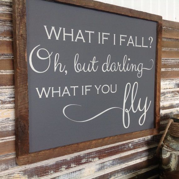 Work Quotes What If I Fall Oh But Darling What If You Fly By