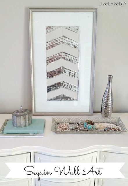 DIY ~ Sequin Wall Art - Work Quotes | Quotes That Will Change the ...