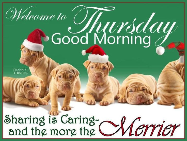 Welcome To Thursday Good Morning Christmas Quote Good Morning