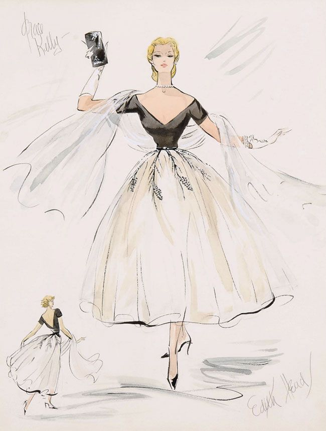 Work Quotes : The iconic evening gown Edith Head designed for Grace ...