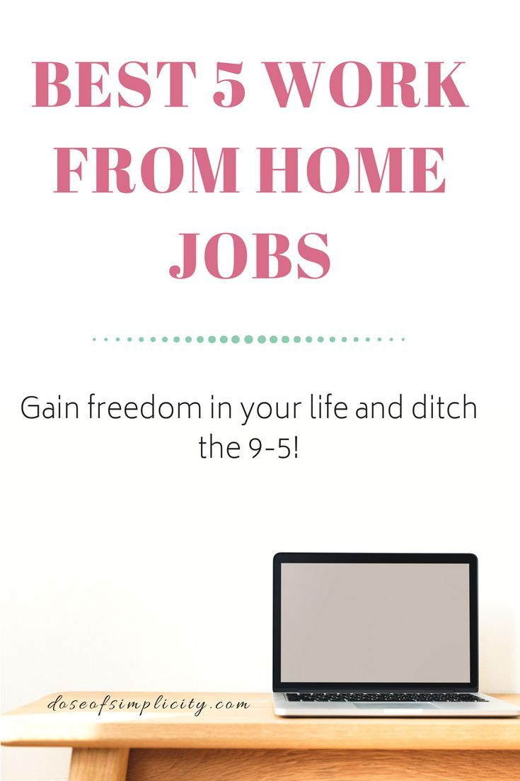 Success Work Quotes Best 5 Work From Home Jobs If You Want A Life