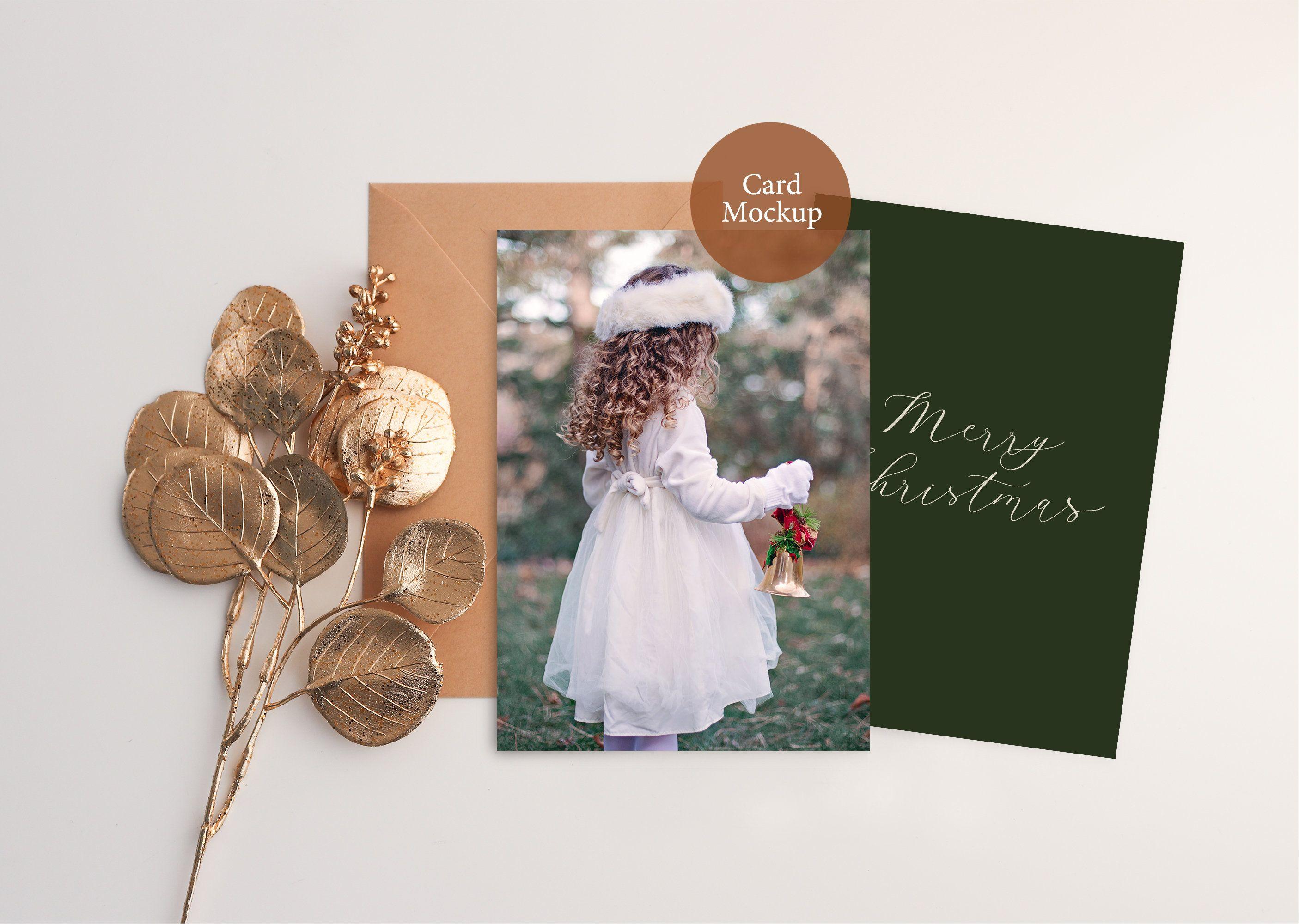 Christmas Card Mockup psd, 5x7 Card Mockup, Holiday mockup, Christmas card mockup 5x7, Happy New Year Card, Greeting Card, Winter Mockup