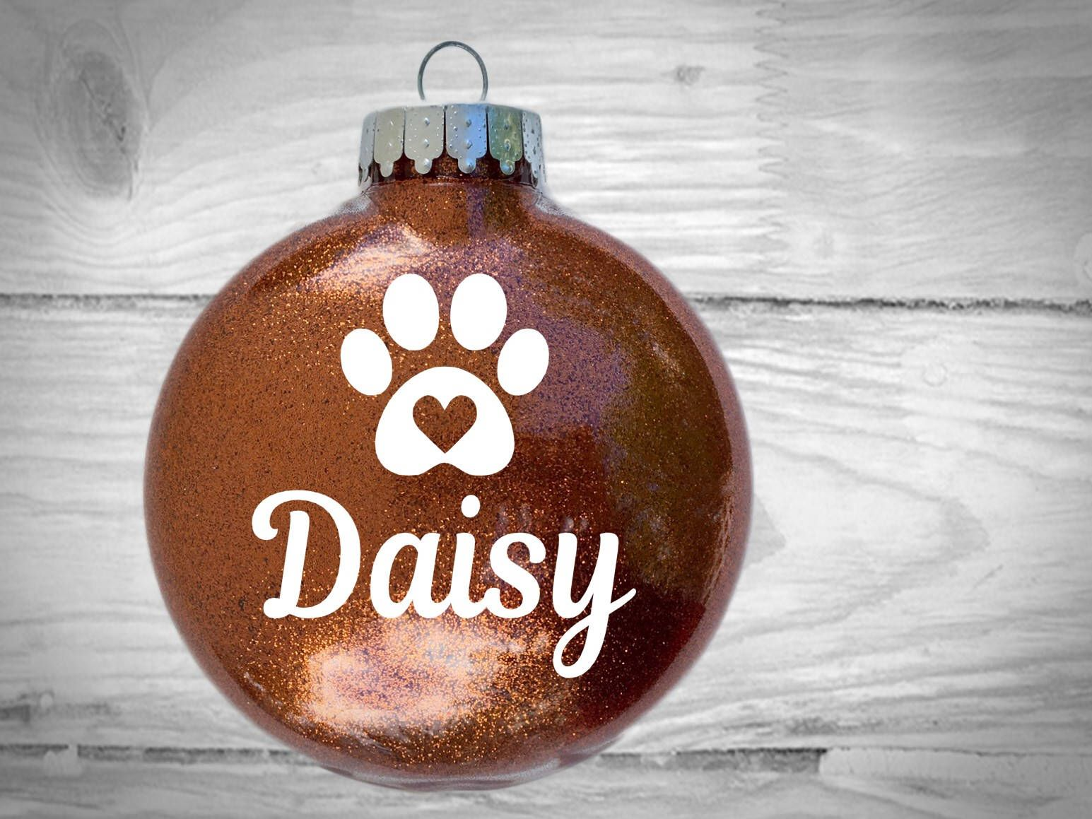 LARGE Personalized Pet Glitter Ornament - Custom gift for friends family coworkers and pet lovers